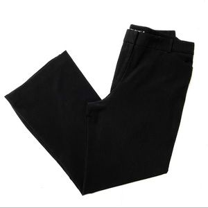 Apostrophe black wide leg trousers